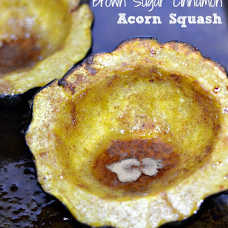 Baked Brown Sugar Cinnamon Acorn Squash