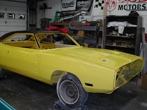 Photo: 70 charger rt assembled and ready for stripes