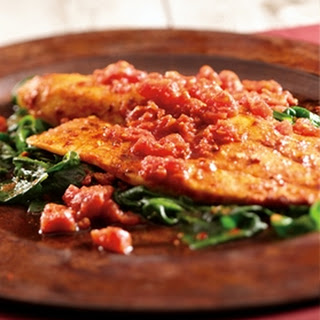 Spicy Tilapia with Spinach.