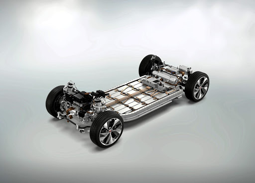 Electric motors sit on each axle with the batteries in the floor to provide 50:50 weight distribution and all-wheel drive. Picture: NEWSPRESS UK