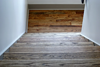 Photo: This staircase project included a high contrast stained finish.