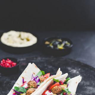 Cauliflower Chickpea Falafel & Hummus Lavash