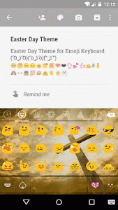 Easter Day Emoji Keyboard screenshot 1
