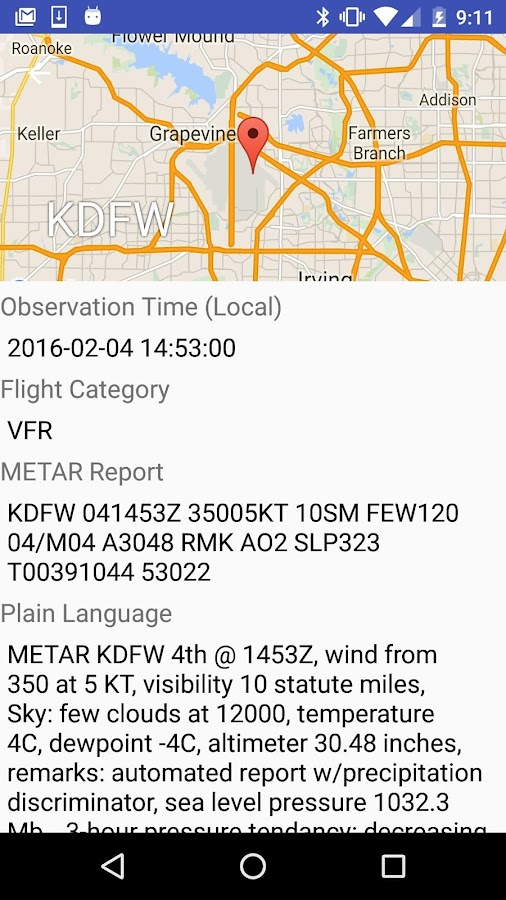 METARs Aviation Weather- screenshot