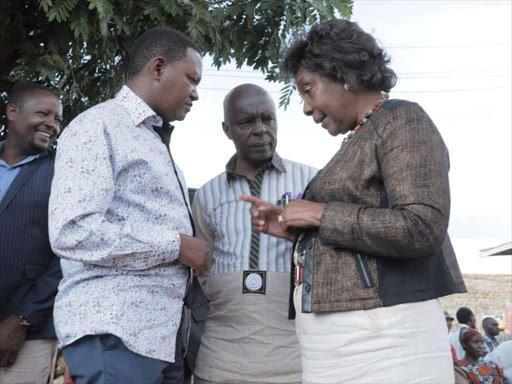 Governors Alfred Mutua, Kivutha Kibwana and Charity Ngilu in Masinga, Machakos, on January 9, 2019. /GPS