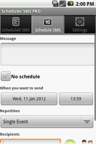 Scheduler SMS PRO screenshot 2