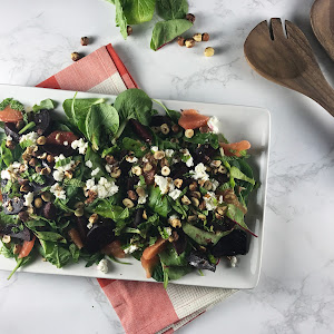 Beet, Goat Cheese, and Grapefruit Salad