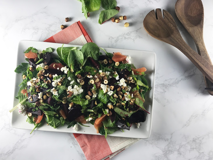 Beet, Goat Cheese, and Grapefruit Salad Recipe