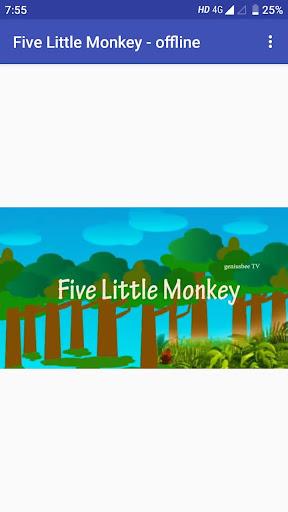 Five Little monkey video song in offline hack tool