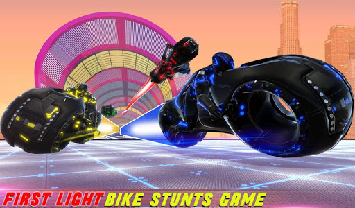 Tron Bike Stunt Racing 3d Stunt Bike Racing Games 101 gameplay | by HackJr.Pw 15