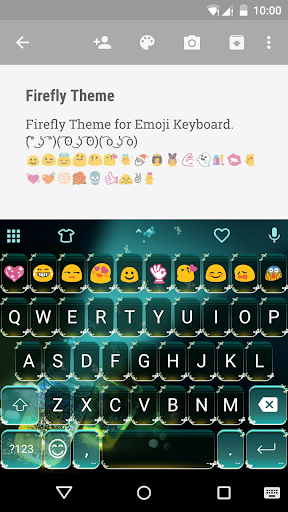 Firefly Emoji Keyboard Theme