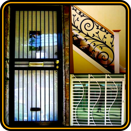Home Grill Window Trellis Metal Door Design Ideas