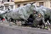 Памятник забегам с быками