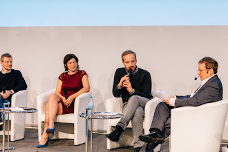 Photo: Philipp Kreibohm, managing director and co-founder, Home24; Karen Boers, managing director and co-founder, Startups.be; Rubin Ritter, co-CEO, Zalando SE; Paul Hofheinz, director, European Digital Forum