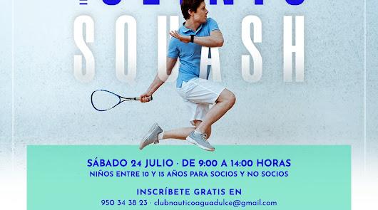 El Club Náutico de Aguadulce organiza un Clínic de iniciación de squash
