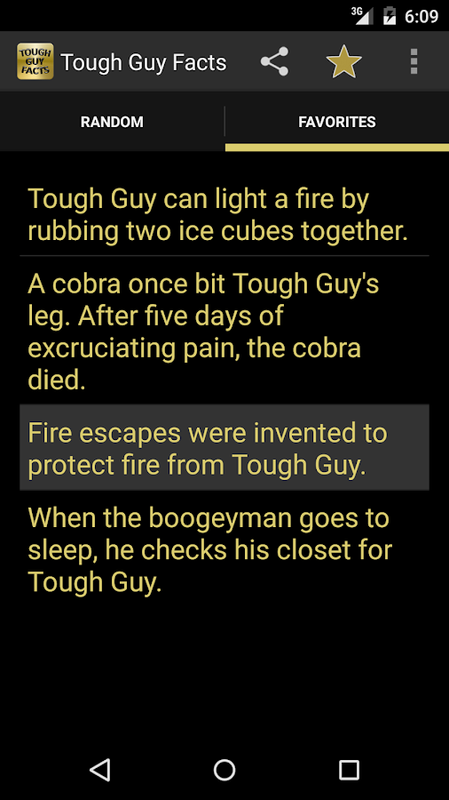 Tough Guy Facts (OLD) - screenshot