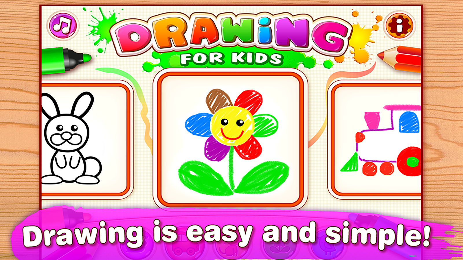 drawing for kids coloring children games toddlers screenshot - Simple Drawing For Children