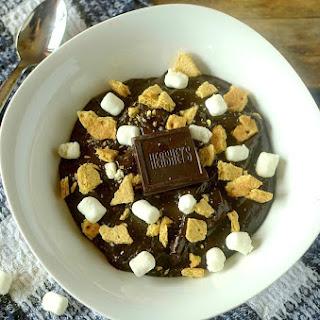 S'mores Chocolate Avocado Pudding {Vegan + Gluten-Free!}