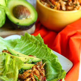 Crock Pot Tex-Mex Chicken Lettuce Wraps.