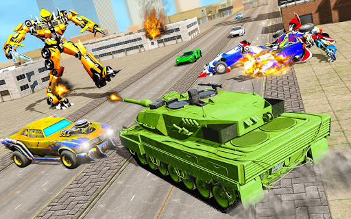 Robot Transform Tank Action Game apkpoly screenshots 4