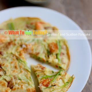 SEAFOOD and SCALLION PANCAKE Recipe