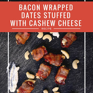 Bacon Wrapped Dates Stuffed with Cashew Cheese Recipe [Paleo, Dairy-Free].