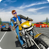 Tricky Moto Racing Traffic Highway Driving
