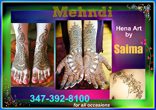 Photo: beautiful Hena/Mehndi by Saima for all occasions... please contact Rachna Kalra at 374-392-8100 for details