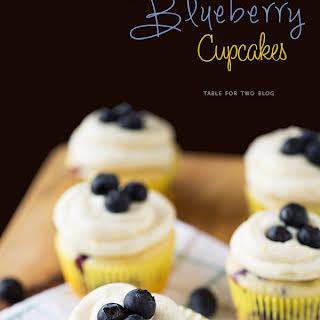 Lemon Blueberry Cupcakes.