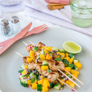 Chicken Skewers With Mango Salad