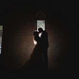 Mystic Window by Lood Goosen (LWG Photo) - Wedding Bride & Groom ( bride, love, wedding dress, groom, wedding photography, wedding photographer, bride groom, weddings, night, wedding day, bride love, wedding photographers, brides, kiss, silhouettes, bride and groom, groom grooms, wedding )
