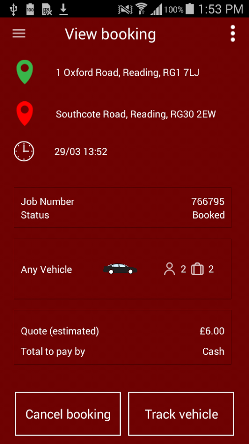 500 Cars Reading Taxis- screenshot