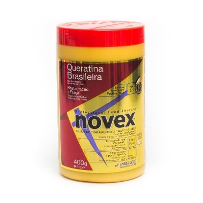 baño de crema novex queratina brasilena 400gr