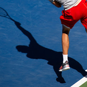 US Open by VAM Photography - Sports & Fitness Tennis ( us open, sports, shadow, nyc, man, tennis )