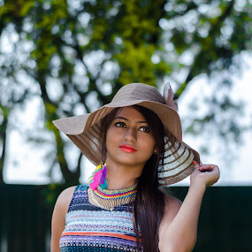 Natural Beauty  by Anuruddha Das - People Portraits of Women ( sexy, girl, kolkata, green, colors, hot, garden,  )