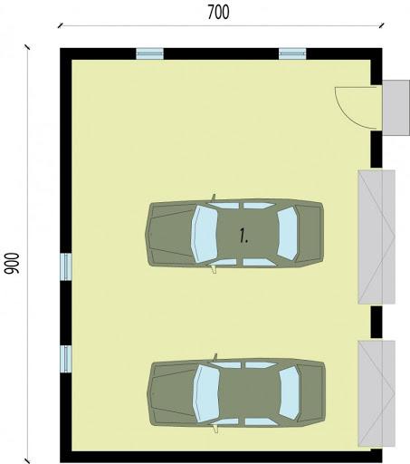 G1b - Rzut garażu