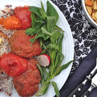 Persian Beef Patties in Tomato Sauce with Sumac Rice