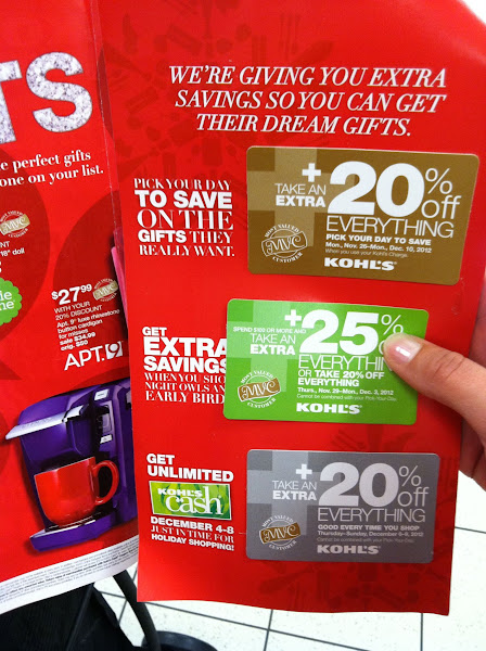 Photo: Another reason I love Kohl's: discounts! I always get a percent off; today it's 25%!