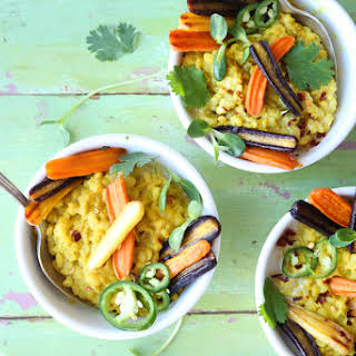 Curried Lentil & Barley Bowls (V).
