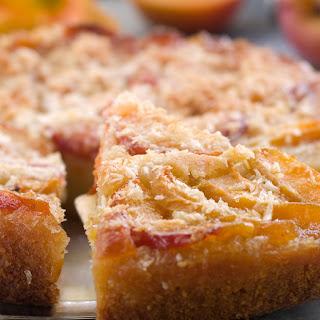 Brown Butter Upside Down Peach Cake.