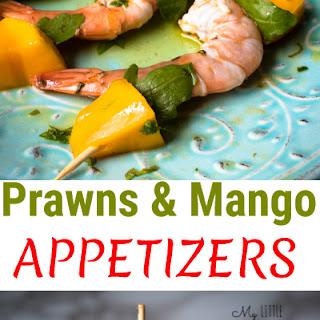 Prawn & Mango Appetizers.