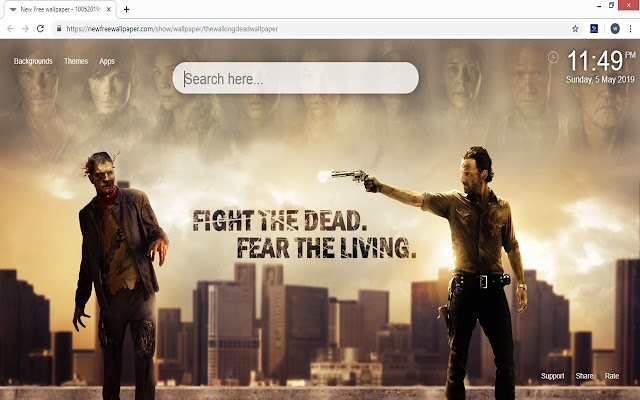 The Walking Dead HD Wallpapers New Tab Theme