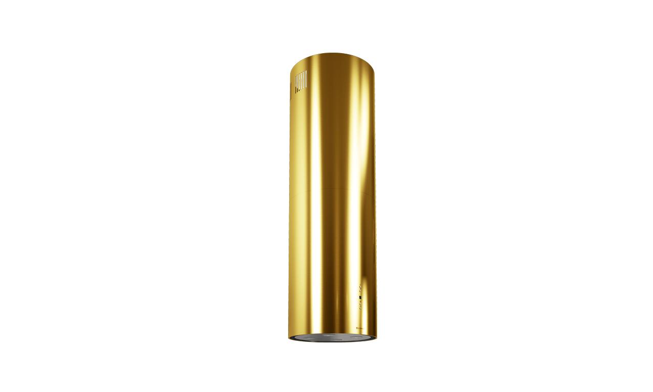 Złoty okap wyspowy GLOBALO CYLINDRO ISOLA GOLD