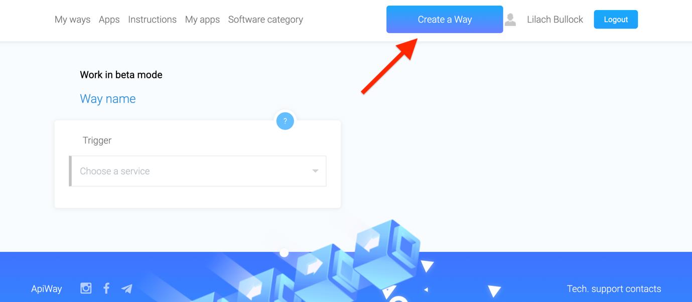 apiway screenshot how to create a way