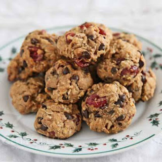 Cranberry Coconut Chocolate Chip Oatmeal Cookies.