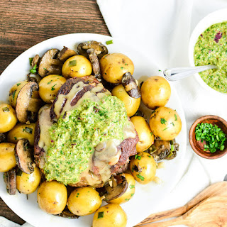 Braised Leg of Lamb with Chimichurri