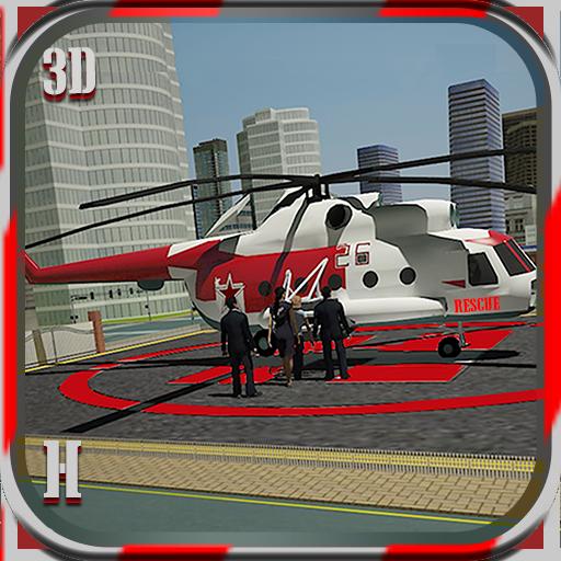 模拟の市ヘリコプター救急車のシム LOGO-記事Game