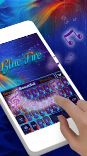 Blue Fire GO Keyboard Theme - náhled