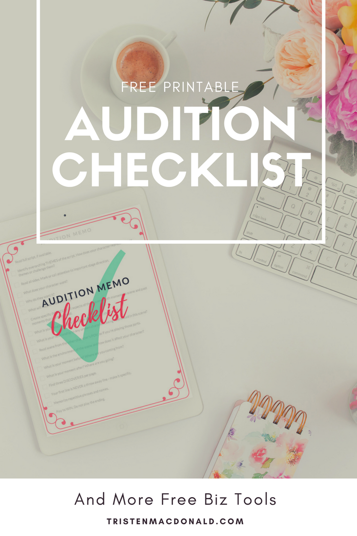 Download Your Audition Checklist