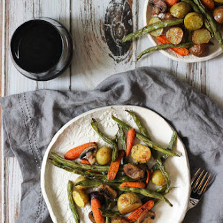 Holiday Roasted Potatoes and Vegetable Medley.